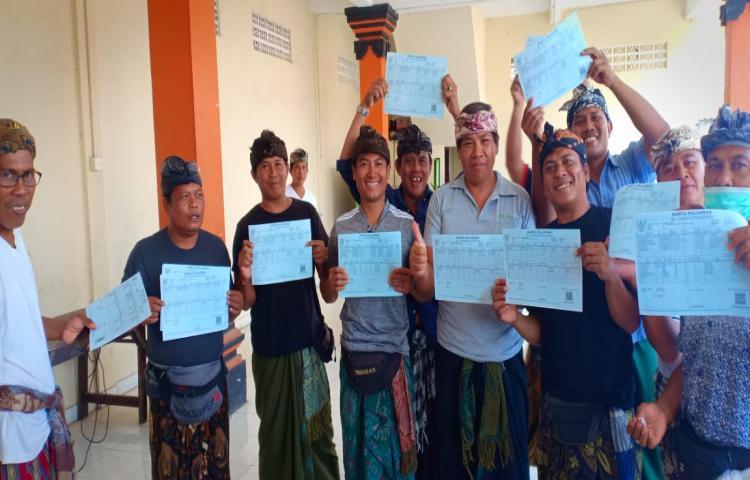Proses Pembagian Kartu Keluarga kepada Krama Banjar Kalanganyar, Hasil Jemput Bola di Jimbaran